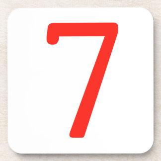 Number 7 drink coaster