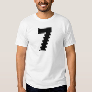 Number 7 frontside print T-Shirt