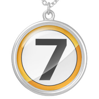 Number 7 gold necklace