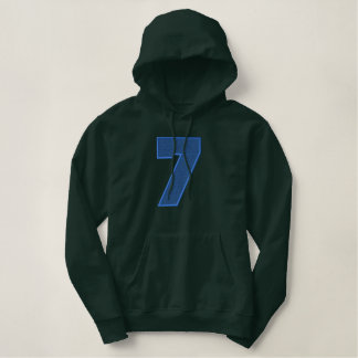 Number 7 Light Fill Embroidered Hoodie
