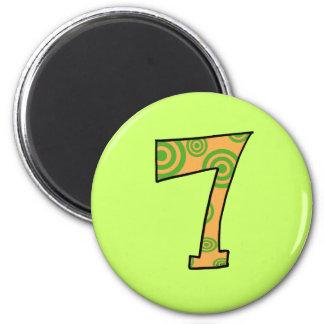 Number 7 magnet