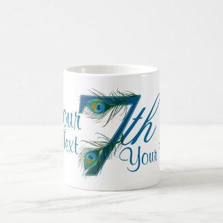 Number 7 or 7th numeric design mugs