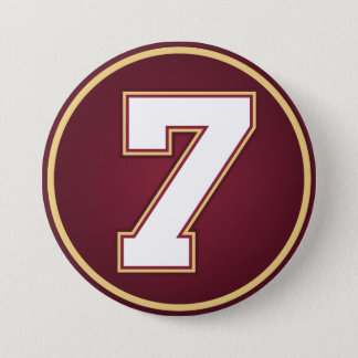 Number 7 pinback button