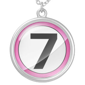Number 7 pink necklace