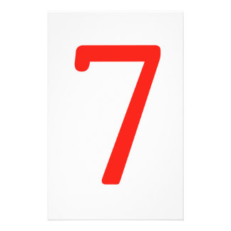 Number 7 personalized stationery