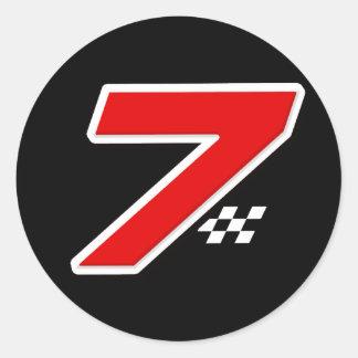 Number 7 - Sticker