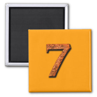 Number 7 Teaching or Memory Aid Magnet