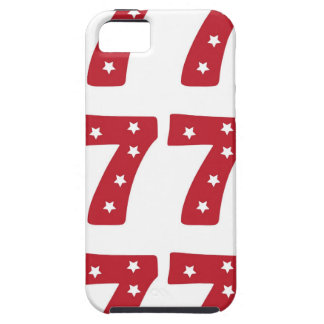 Number 7 - White Stars on Dark Red iPhone 5 Cover