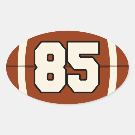 Number 85 Football Sticker | Zazzle