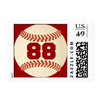 Number 88 Baseball Postage