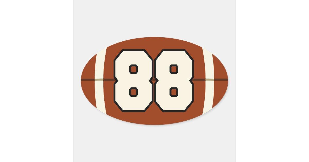 Number 88 Football Sticker