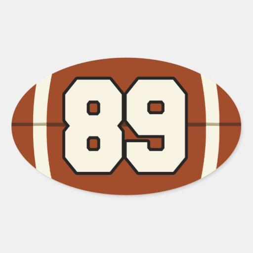 Number 89 Football Sticker | Zazzle
