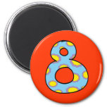 Number 8 2 inch round magnet