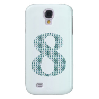 Number 8 / 8th Anniversary decorative gifts Galaxy S4 Cases