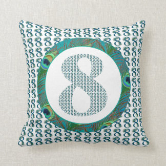 Number 8 / 8th Anniversary decorative gifts Throw Pillow