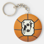 Number 8 Basketball and Players Keychains