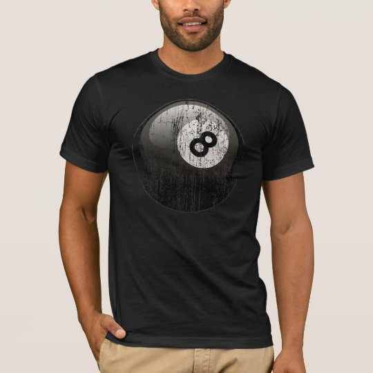 NUMBER 8 BILLIARDS BALL - ERODED AND AGED T-Shirt