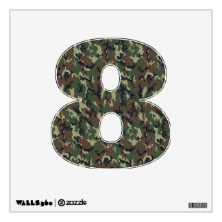 Number 8 Decals - Woodland Military Camouflage