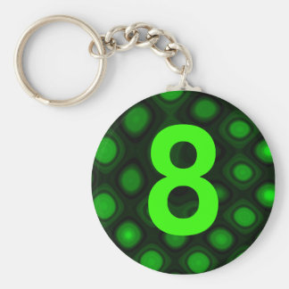 Number 8 key chains