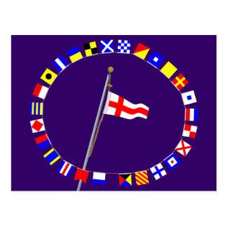 Number 8 Nautical Signal Flag Hoist Post Cards
