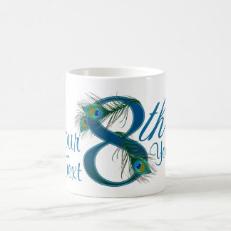 Number 8 or 8th numeric design mug