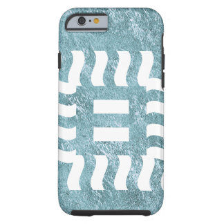 Number 8 reverse on aqua tough iPhone 6 case
