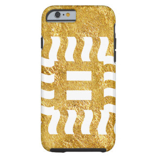 Number 8 reverse on gold tone tough iPhone 6 case