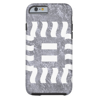 Number 8 reverse on medium gray tough iPhone 6 case