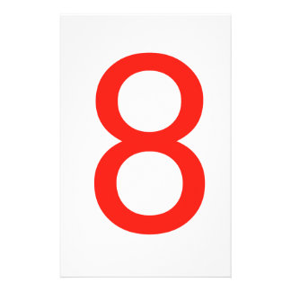 Number 8 personalized stationery