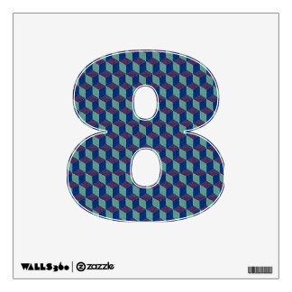 Number 8 Wall Decal - Numeral Eight thenumeral8