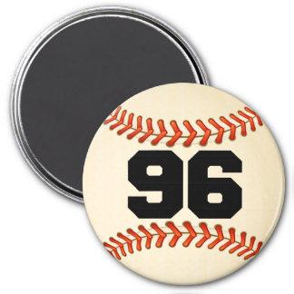 Number 96 Baseball Magnet