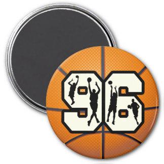 Number 96 Basketball Refrigerator Magnet
