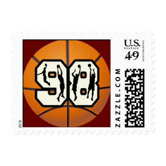 Number 98 Basketball Postage