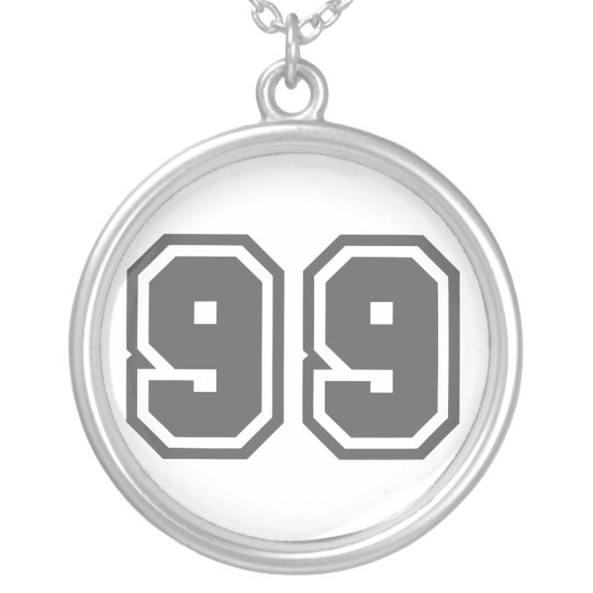 Number 99 silver plated necklace