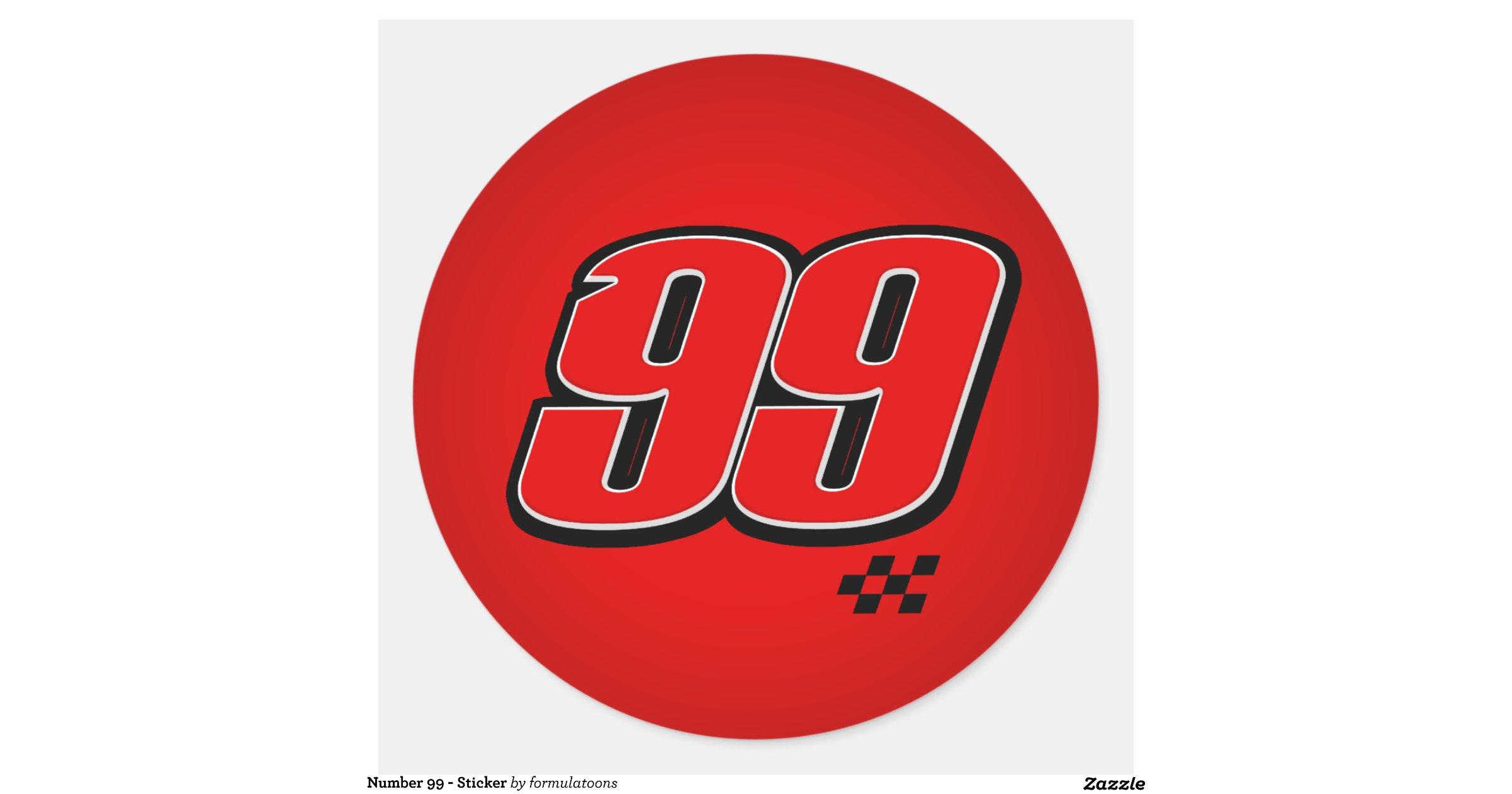Number 99 Sticker