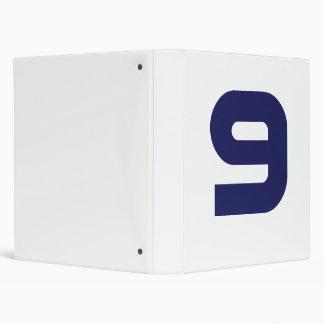 Number 9 3 ring binder