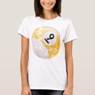 NUMBER 9 BILLIARDS BALL - ERODED AND AGED T-Shirt
