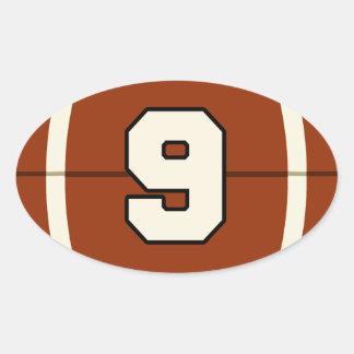 Number 9 Football Sticker