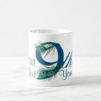 Number 9 or 9th numeric design mug
