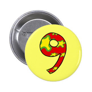 Number 9 pinback button