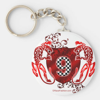 number 9 racing design panthers key chain