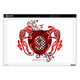 number 9 racing design panthers laptop skin