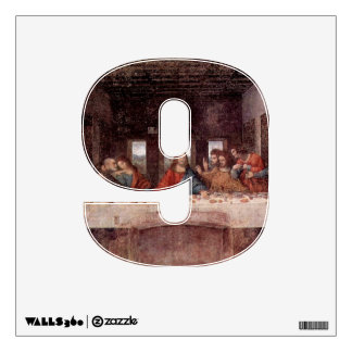 Number 9 Wall Decal - Numeral Nine thenumeral9