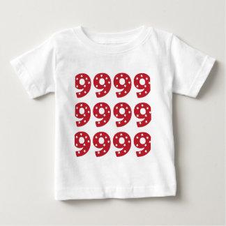 Number 9 - White Stars on Dark Red Baby T-Shirt