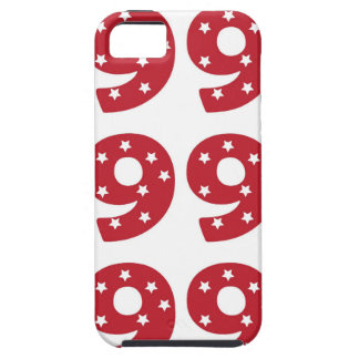 Number 9 - White Stars on Dark Red Case For The iPhone 5