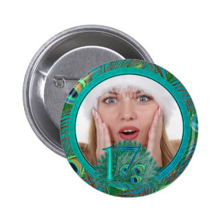 Number / age / year / 17 birthday template 2 inch round button