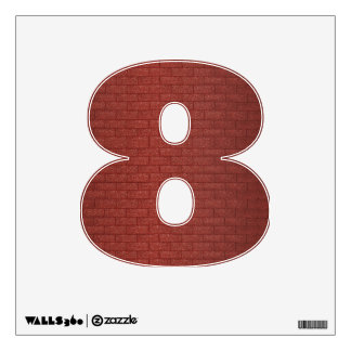 Number Decal - Brick Wall Background
