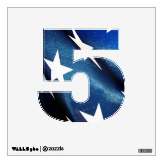 Number Decal - Field of Blue - American Flag