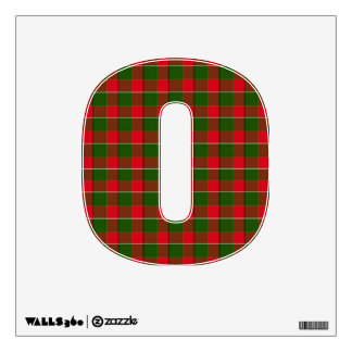 Number Decal - Red & Green Plaid (1)