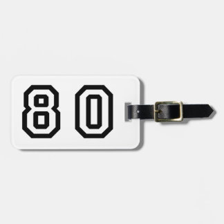 Number Eighty Bag Tag